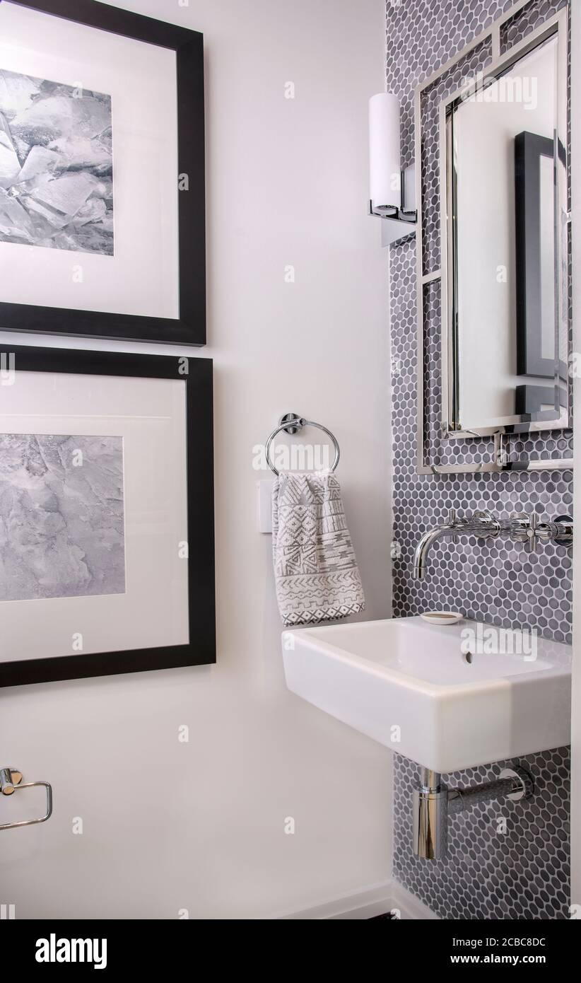 https www alamy com small powder room contemporary design image368449016 html