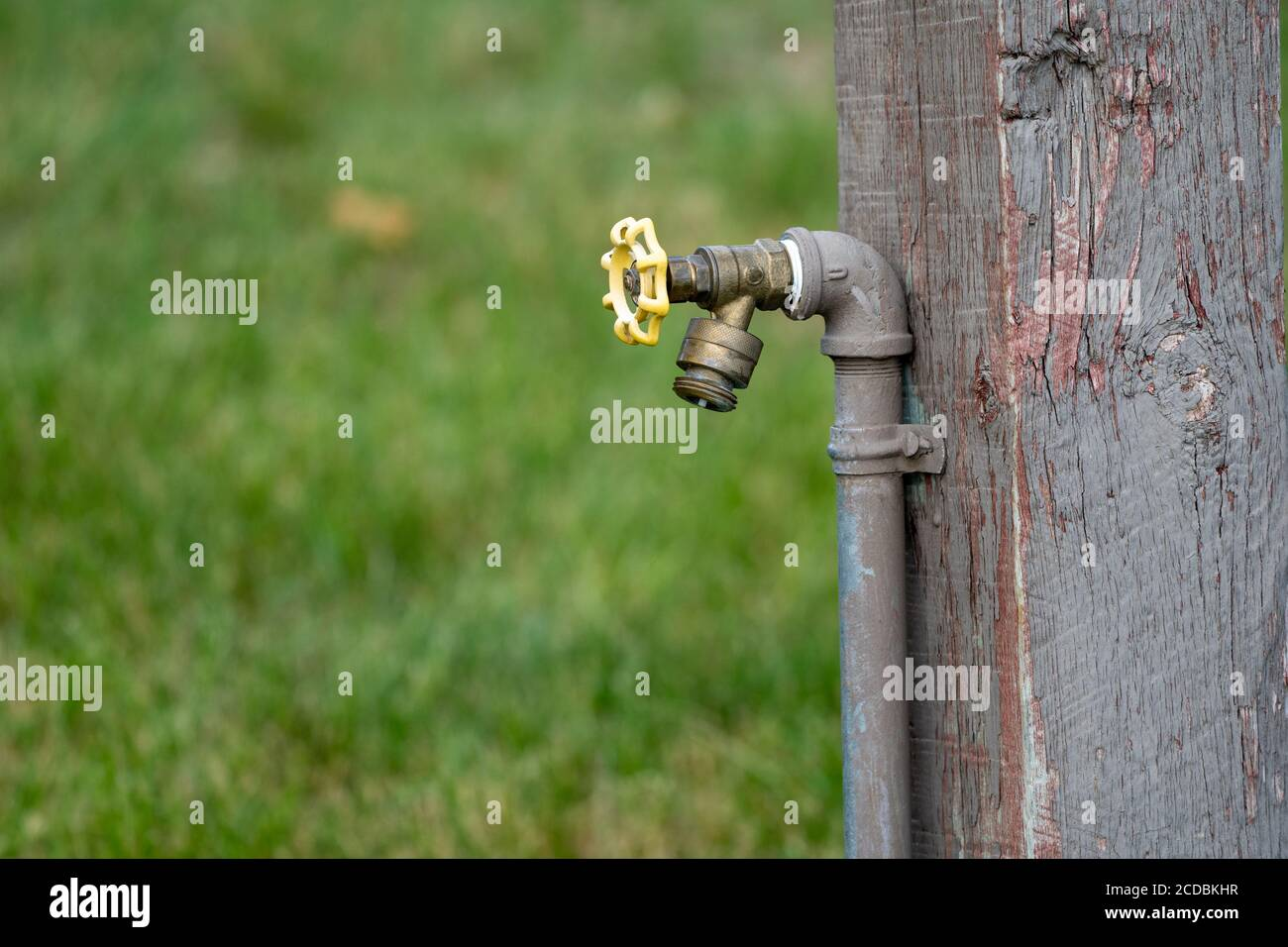 https www alamy com outdoor water spigot fountain attached to a wooden porch useful for campers image369665123 html