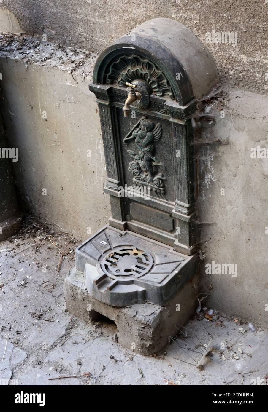 https www alamy com cracow krakow poland old iron casted water fountain with faucet in the inner yard of the old town building image369794928 html