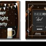 A Set Of Vector Flyers For A Beer Party Festival Or Advertising Flat Illustration With Beer
