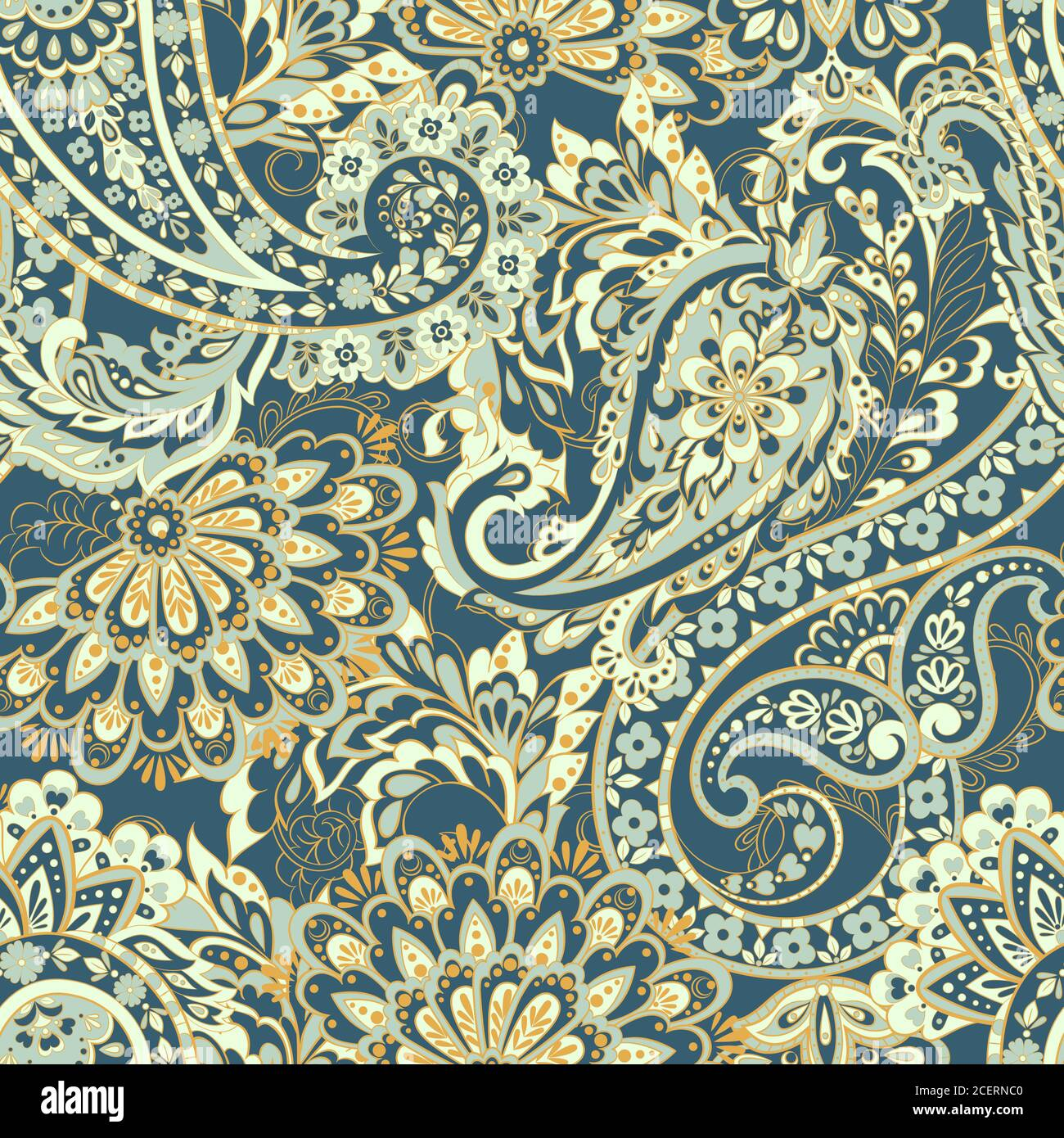 Damask Style Seamless Pattern Floral Vector Wallpaper Stock Vector Image Art Alamy
