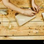 A Woman Wrapping Homemade Christmas Gift Boxes Make Christmas Gifts Diy Christmas Gifts To Friends And Family Stock Photo Alamy