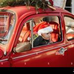 Vintage Red Car And Christmas Tree High Resolution Stock Photography And Images Alamy