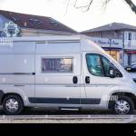 Ares Aquitaine France 16 10 2020 Fiat Ducato Rv Holiday Trip In Motorhome Caravan Car Vacation With Camper Van Parked In City Stock Photo Alamy