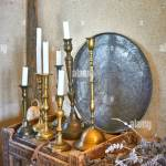 Retro Candle Holders High Resolution Stock Photography And Images Alamy