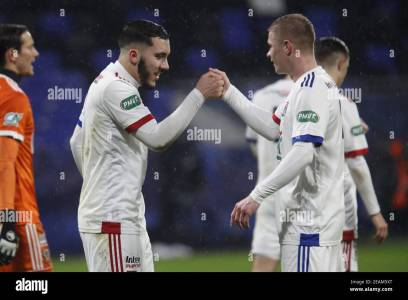 Rayan CHERKI Of Lyon And Melvin BARD Of Lyon During The French Cup, Round  Of 64 Football Match Between Olympique Lyonnais And AC / LM Stock Photo -  Alamy