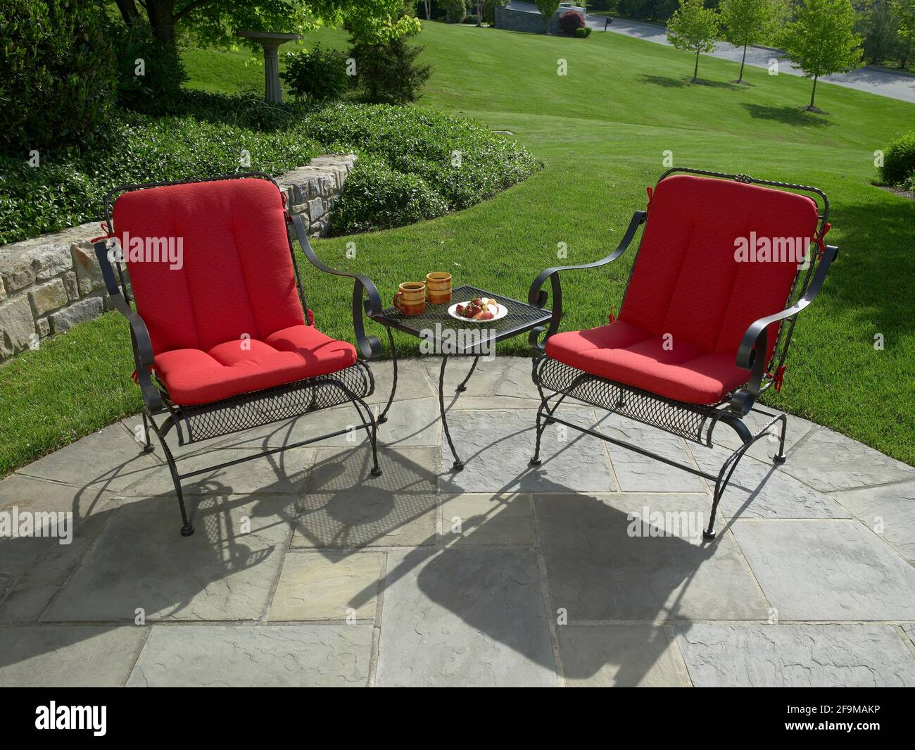 https www alamy com outdoor furniture on stone patio pennsylvania usa image419028170 html