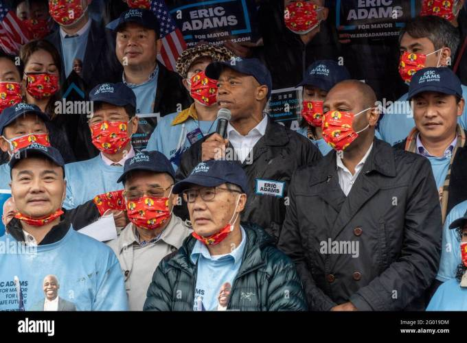 3 Chinese Americans In Surgical Masks Play Jianzi At A Park In Flushing Queens New York City Stock Photo Alamy