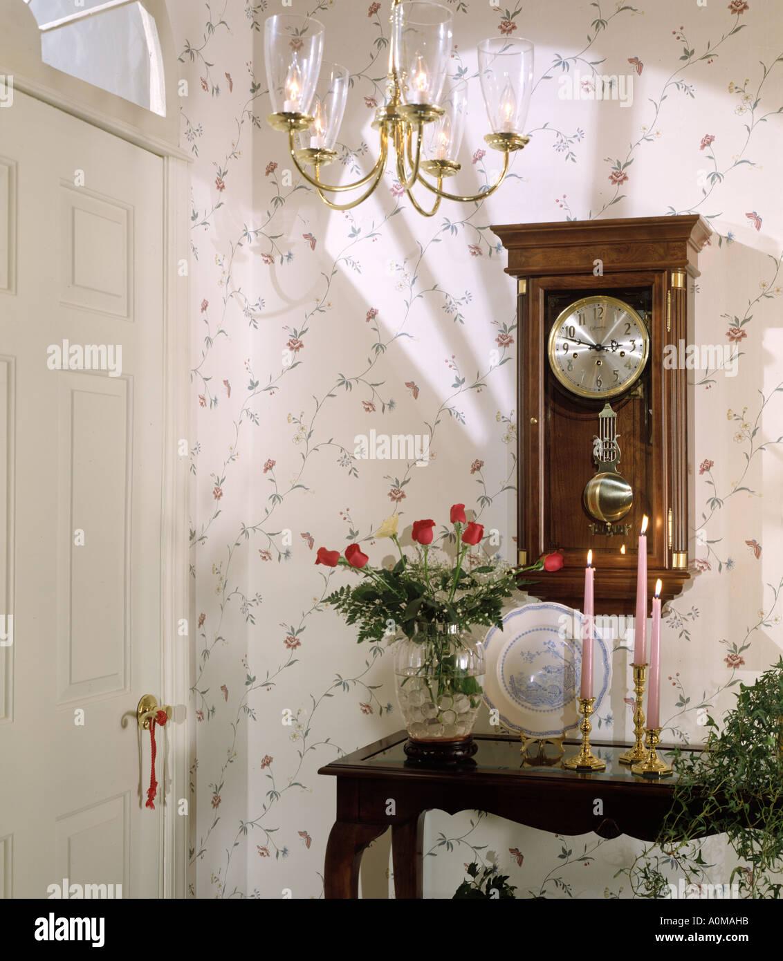 Room Interior Wallpaper Hall Hallway Entrace Hallway Entrance Front Stock Photo Alamy