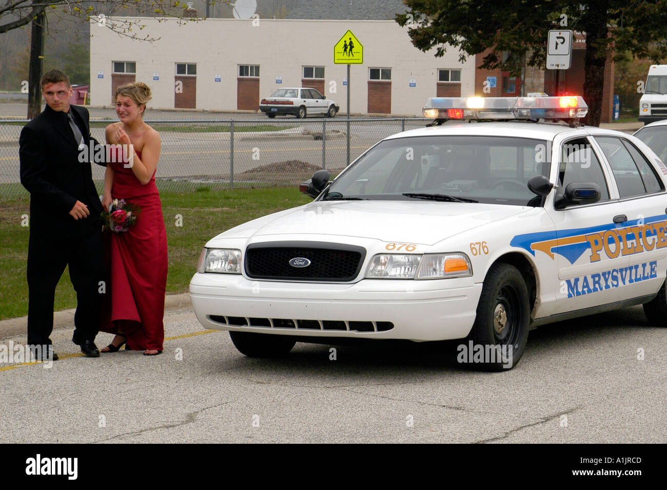 Prom Drunk Driving Demo Distraught Accident Victims In