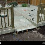 Deck Deck Construction With Access Ramp For Wheelchair Stock