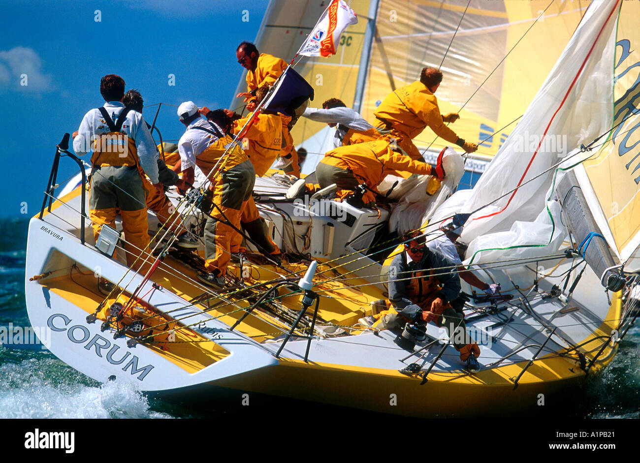 French Racing Yacht Corum At Mark Rounding Admirals Cup