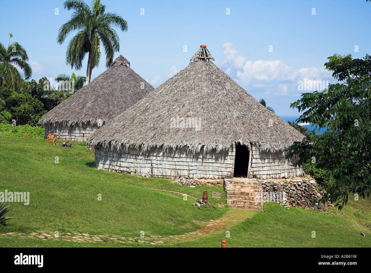 Houses In Reproduction Taino Indian Village Chorro De
