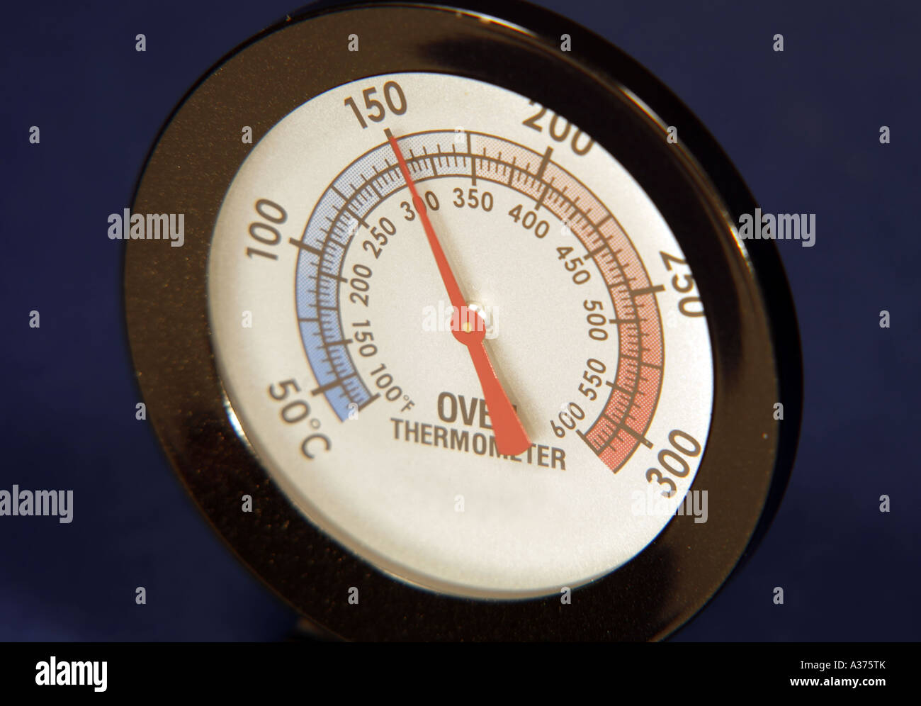 Oven Thermometer Reading 150 Degrees Centigrade Stock