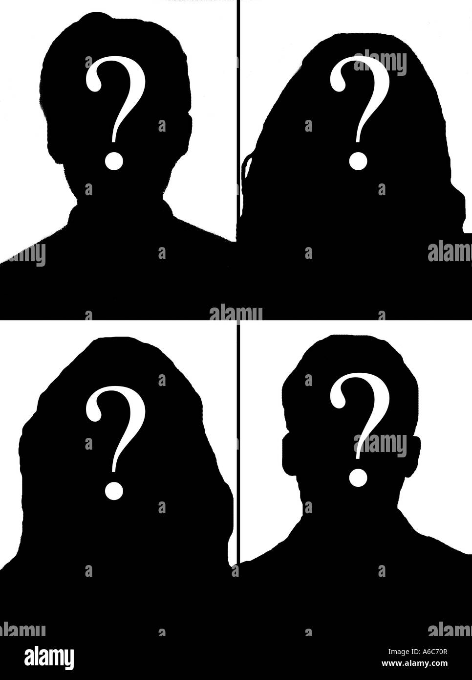 Image result for silhouette of people with question marks over their heads