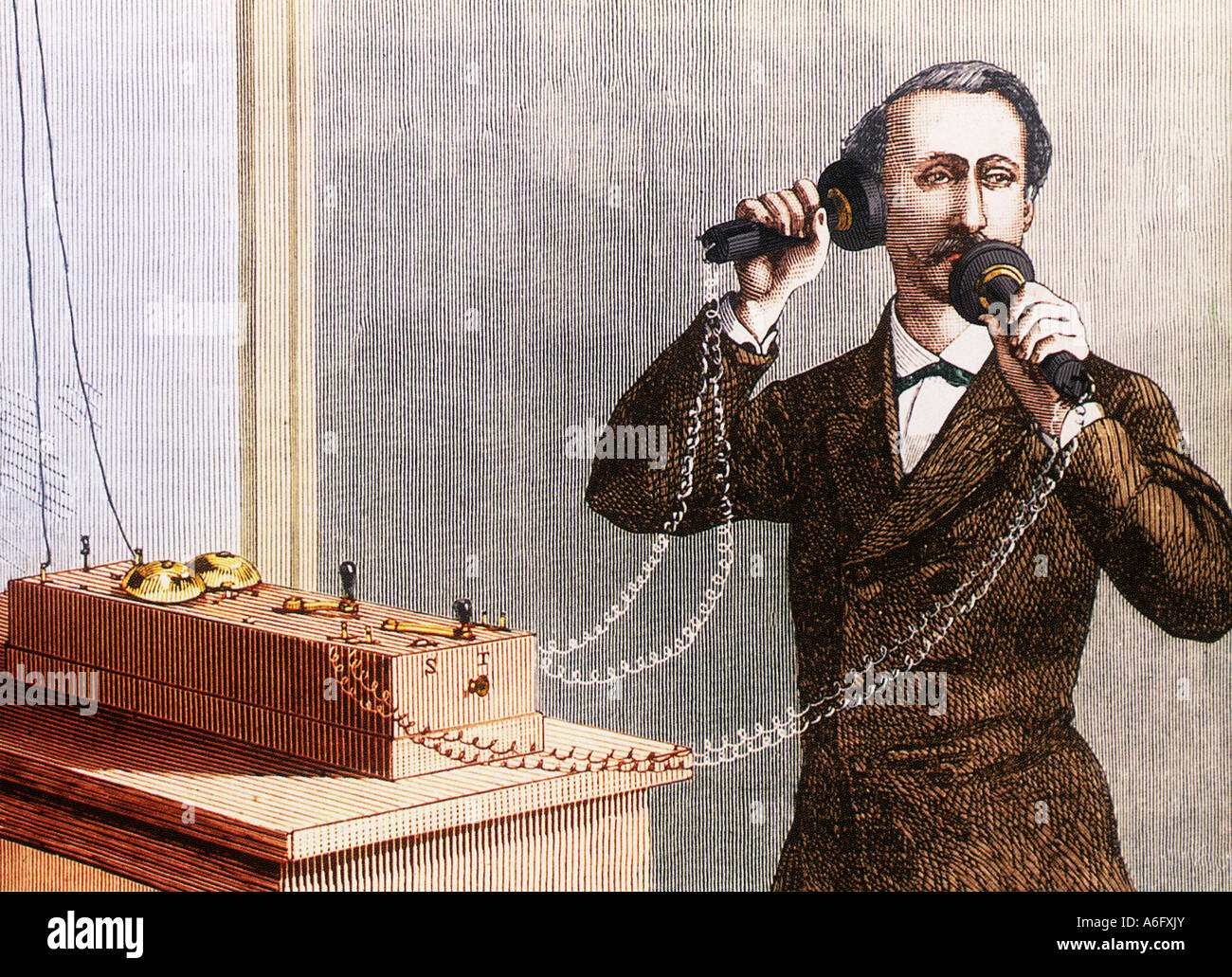 Alexander Graham Bell Scottish Born Us Scientist