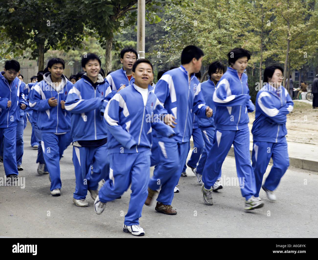 China Beijing High School Physical Education Class
