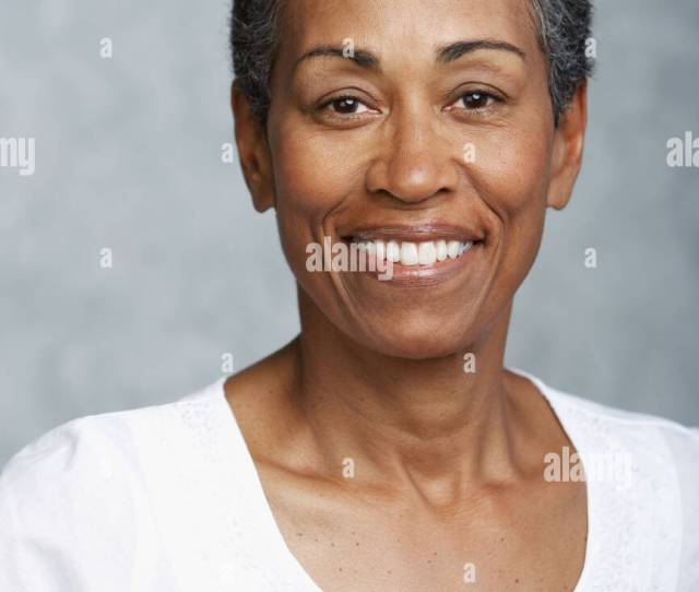 Portrait Of Mature Adult Woman Stock Image