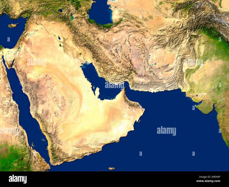 Middle East Map Stock Photos   Middle East Map Stock Images   Alamy Satellite Image Of The Middle East   Stock Image