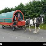 Ireland County Wicklow Horse Drawn Hire Rental Caravan Stock Photo Alamy
