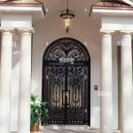 Custom Wrought Iron Front Doors Installed On Residential Home Stock Photo Alamy