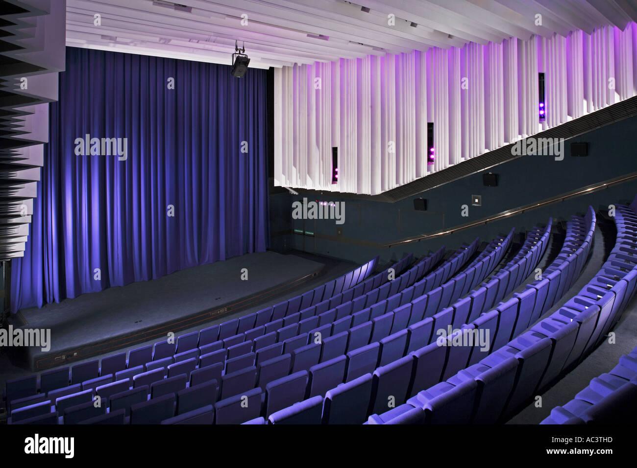 Modern Theatre Or Cinema Auditorium Towards Stage Stock