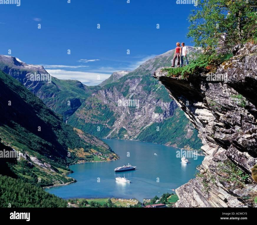 Geirangerfjord, More og Romsdal, Norway Stock Photo ...