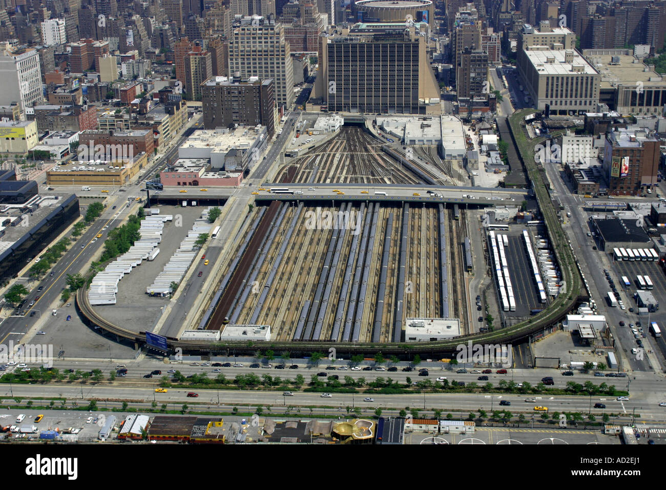 Aerial View Of Penn Station New York Stock Photo