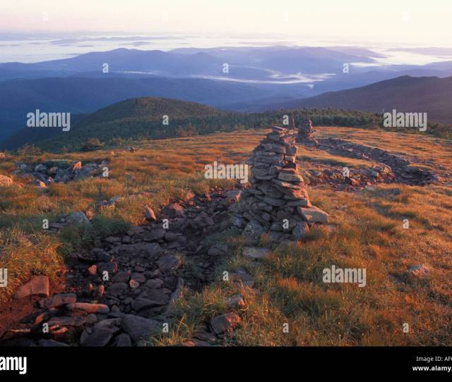 Mount Moosilauke Summit Trail Marked By Stone Cairns White Mountain National Forest New Hampshire