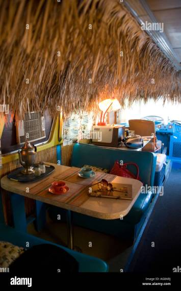 Interior Tiki Bus Shady Dell RV Park Bisbee Arizona Stock Photo     Interior Tiki Bus Shady Dell RV Park Bisbee Arizona