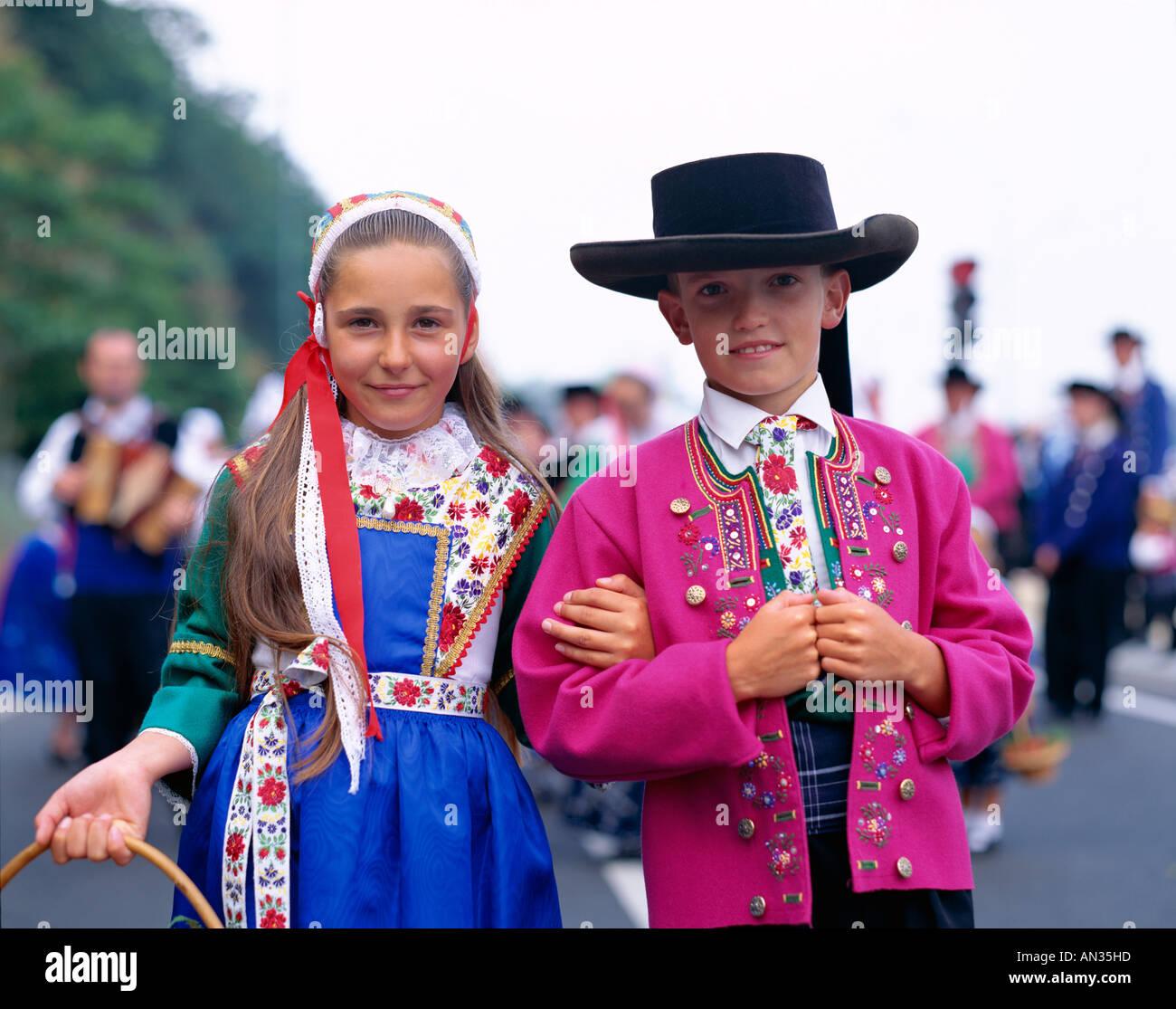Breton Traditional Dress Girl Amp Boy In Local Costume