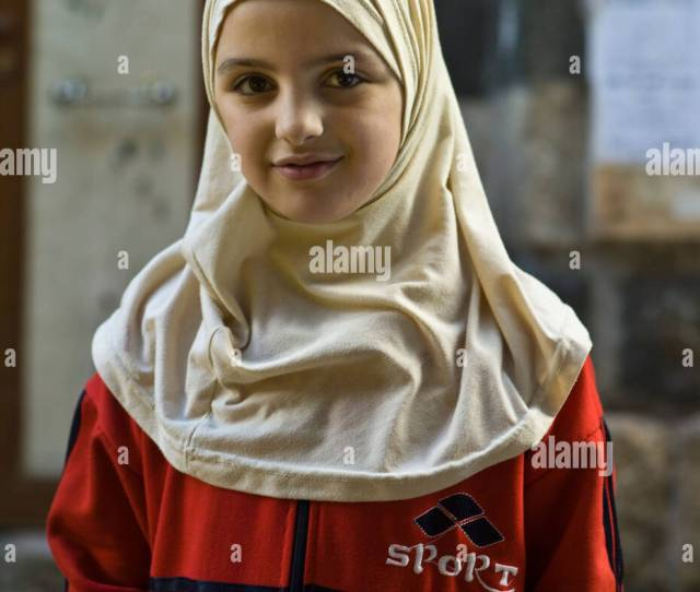 Young Arab Girl In Veil Damascus Syria
