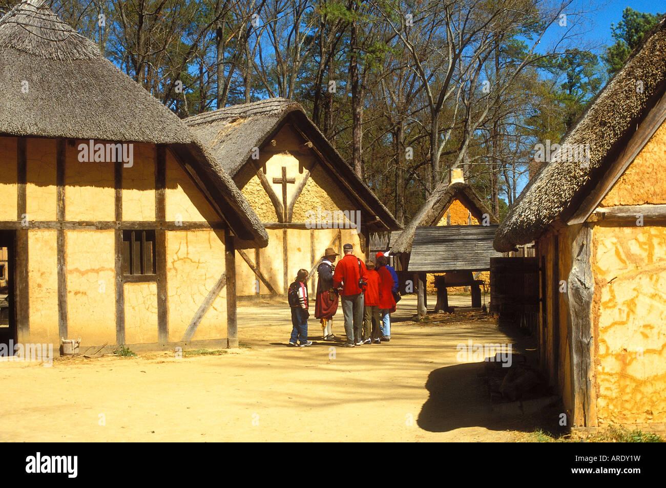 Jamestown Settlement Virginia Usa Stock Photo Royalty
