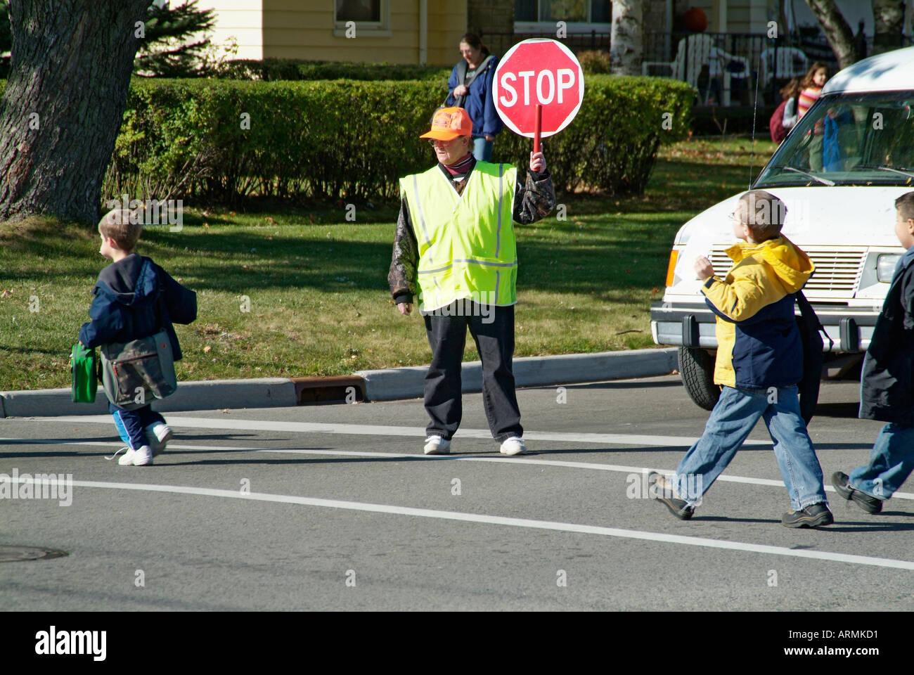Elementary School Crossing Guard Provides Safety To