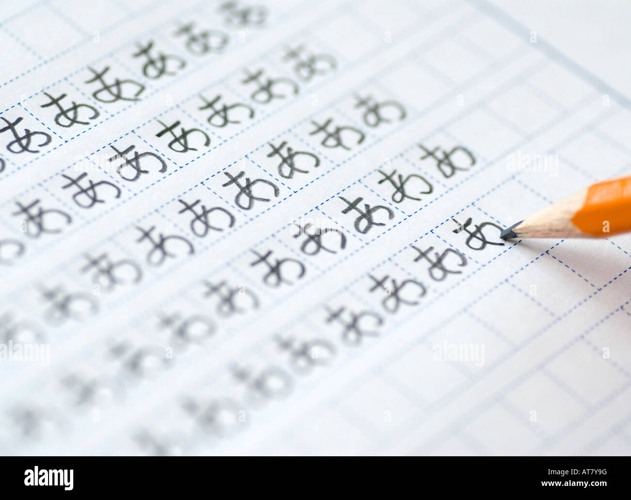 Foreign Student Learning To Write Japanese Hiragana