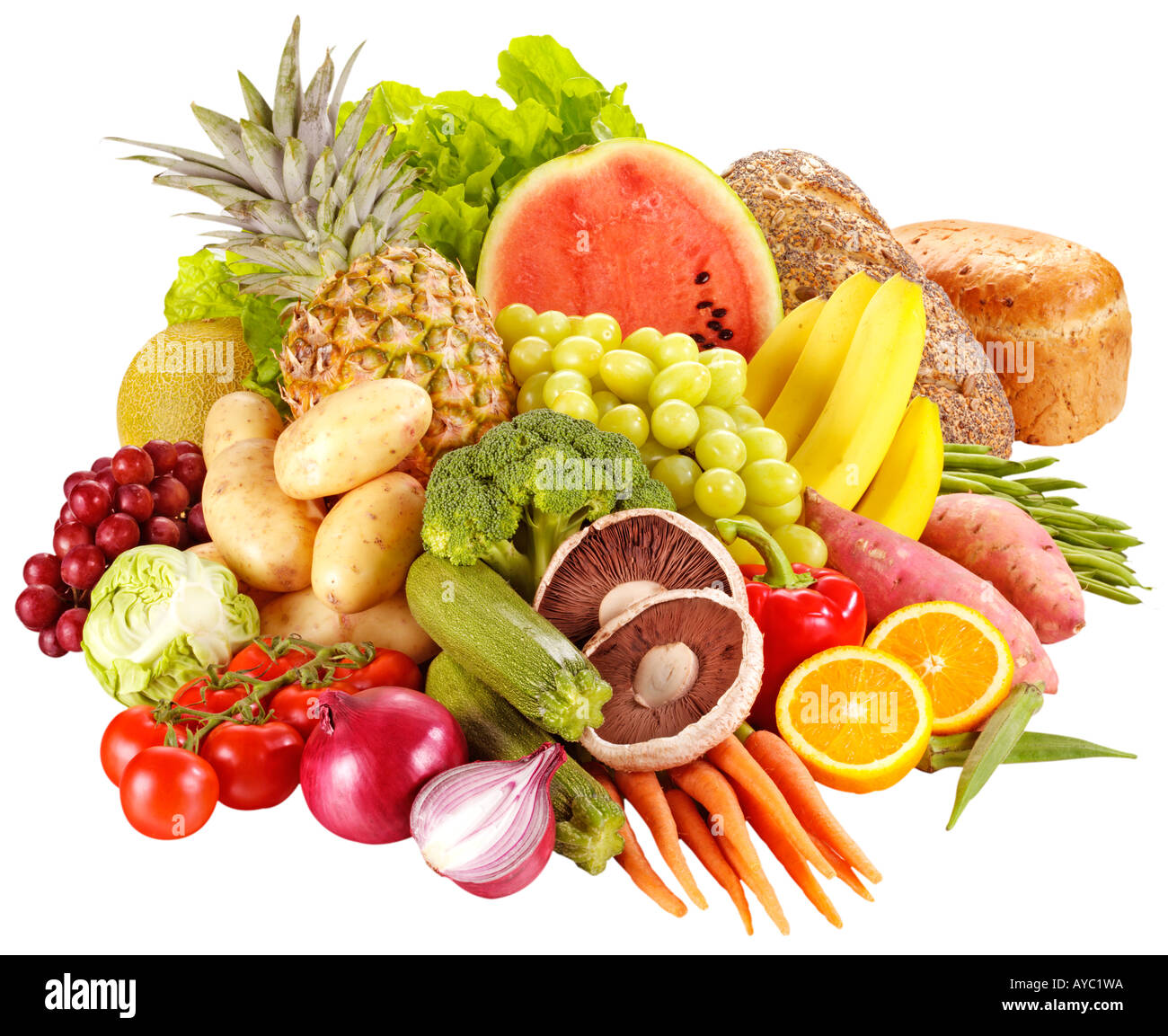 Fruit And Vegetables Cut Out Stock Photo Royalty Free