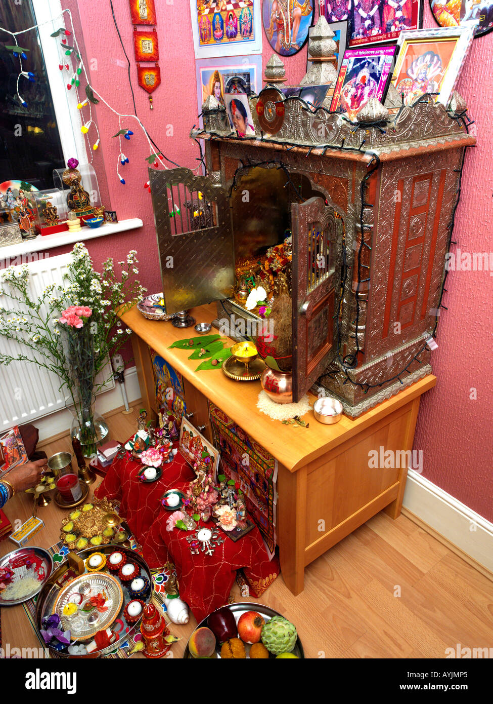 Best Kitchen Gallery: Family And Durga Shrine On Diwali Celebrations At Home Tooting of Hindu Altar At Home on rachelxblog.com