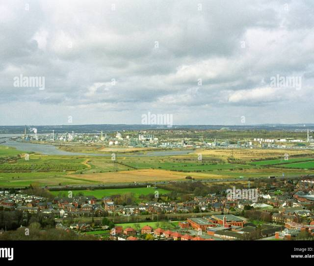 View Of The Mersey Valley And Runcorn From Overton Hill Frodsham Cheshire Spring