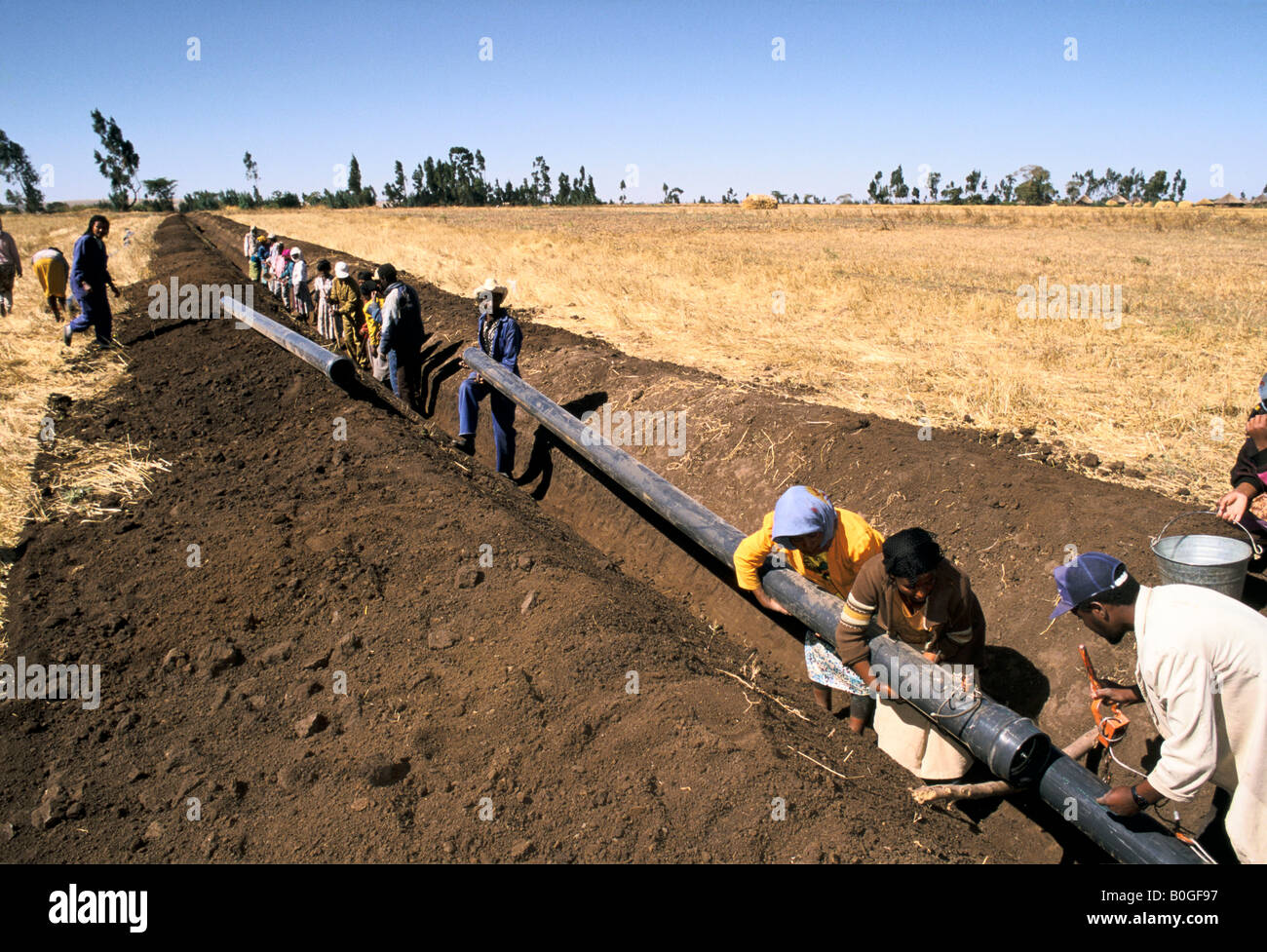 Water Supply Community And Technical Trainees Digging A