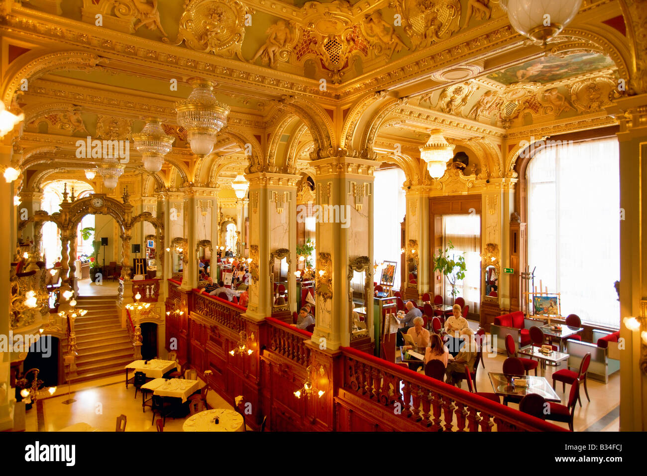 The New York Cafe In Budapest Hungary Stock Photo