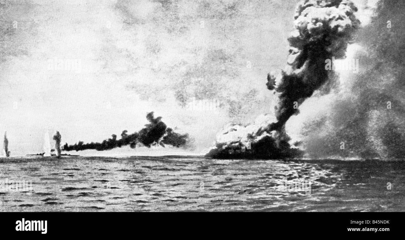 Events First World War Wwi Naval Warfare Battle Of Jutland Stock Photo
