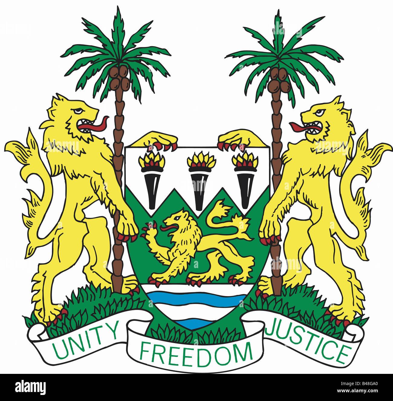 Heraldry Coat Of Arms Sierra Leone Stock Photo