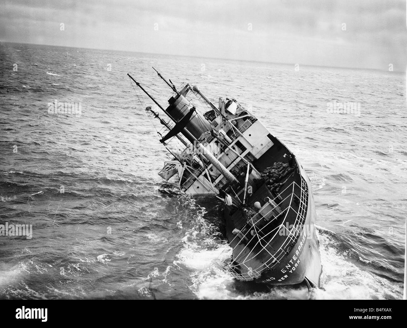 Flying Enterprise Ship Sinking In The English Channel