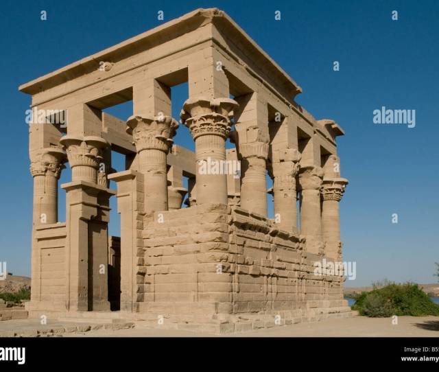 Trajans Kiosk In Philae Temple On Agilkia Island In The Reservoir Of The Aswan Low Dam Egypt