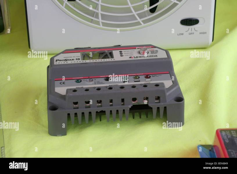 Solar Charge Controller Stock Photos   Solar Charge Controller Stock     Solar charge controller ensures correct battery storage of solar electric  power   Stock Image