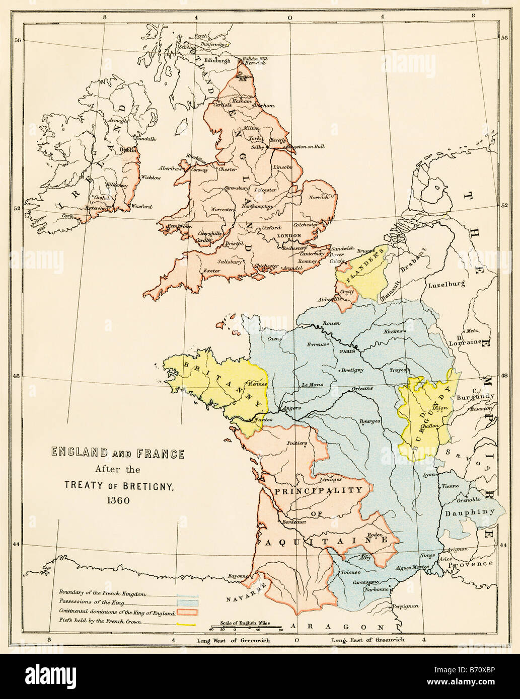 England And France After The Hundred Years War Color