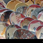 Wooden Plates Bulk Articles Souvenirs Blyde River Canyon South Stock Photo Alamy