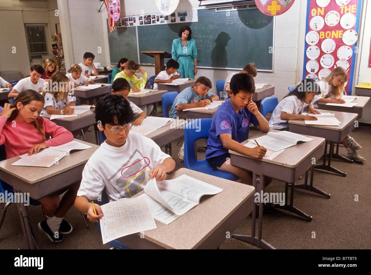 Junior High School Students Take Standardized Achievement