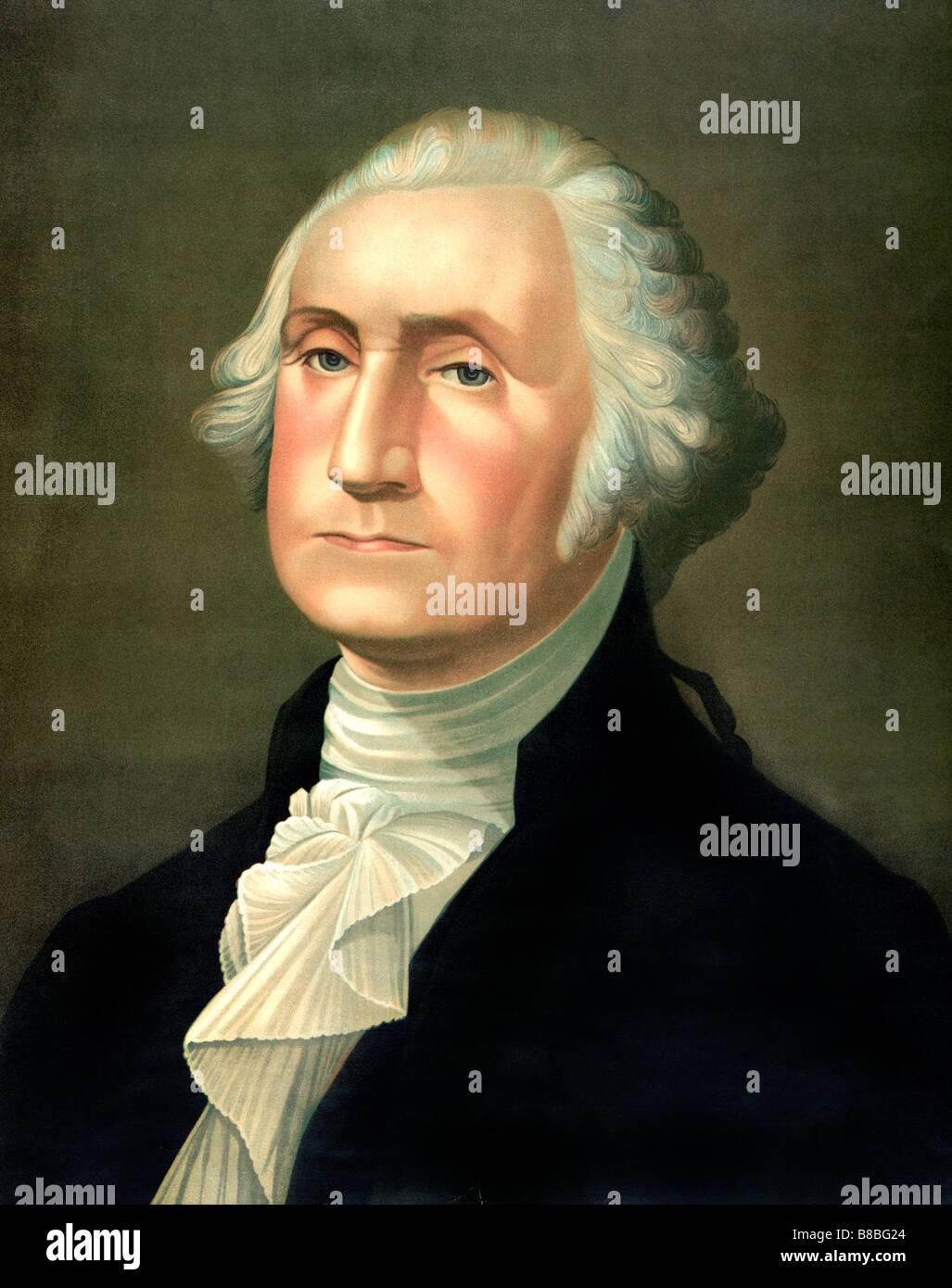 Head And Shoulders Portrait Of George Washington
