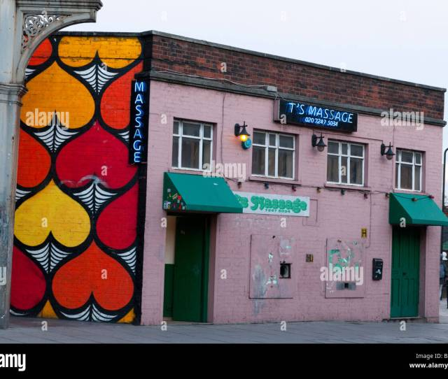 Exterior Of A Massage Parlour In Hackney London England Uk Stock Image